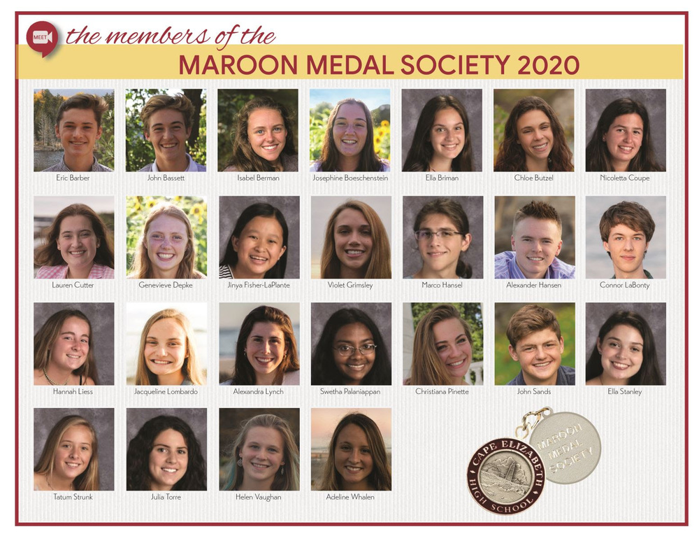 Congratulations to the newest members of the Maroon Medal Society