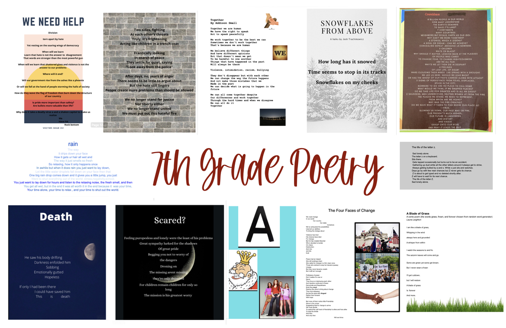 Celebrating Our 7th Grade Poets