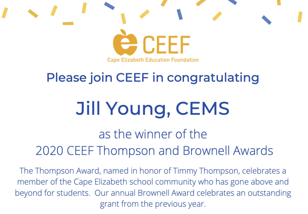 Update: CEEF's Brownell & Thompson Award