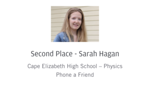 Sarah Hagan: 2nd place Maine App Challenge