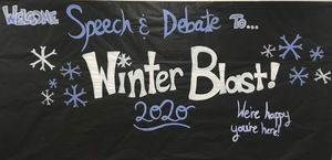 "Speech & Debate host ""Winter Blast 2020"" competition"