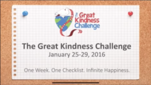 Coming soon!   The Great Kindness Challenge