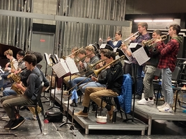 ​Cape High School musicians at the Maine music educators jazz all state honors festival.​