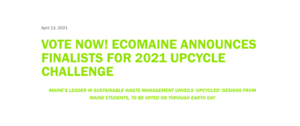Vote for Aurora Milton '24:  ecomaine Upcycle Challenge Finalist