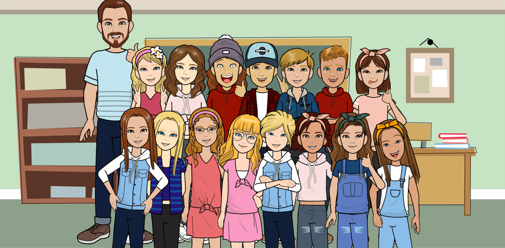 Our class in avatar form!